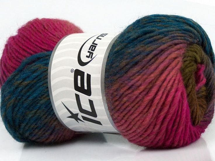 Marvelous Pure Wool Teal Pink Shades Maroon Green at Yarn Paradise