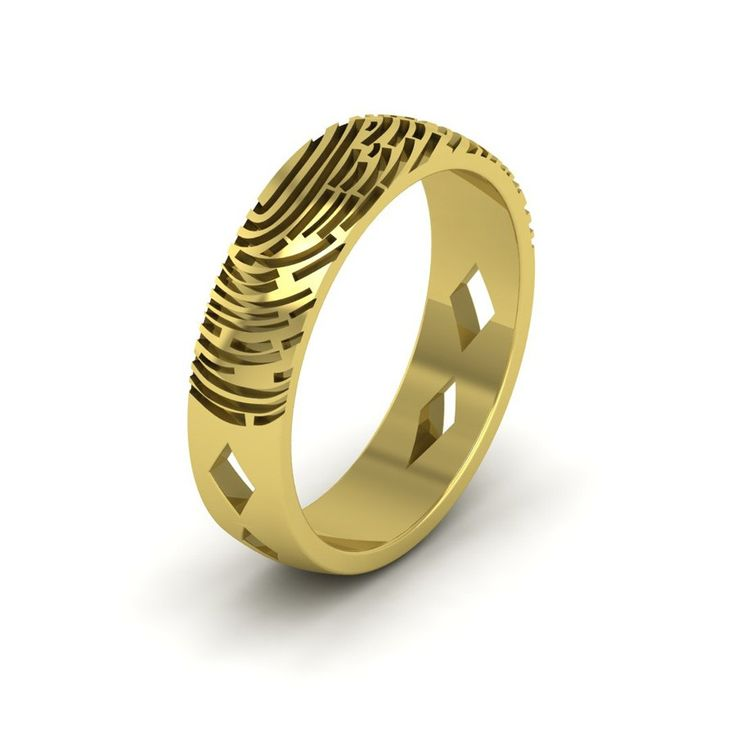 Unique Aurobliss provides Fingerprint Wedding rings for Parents on marriage anniversary Gift a unique fingerprint rings for your parents on their wedding