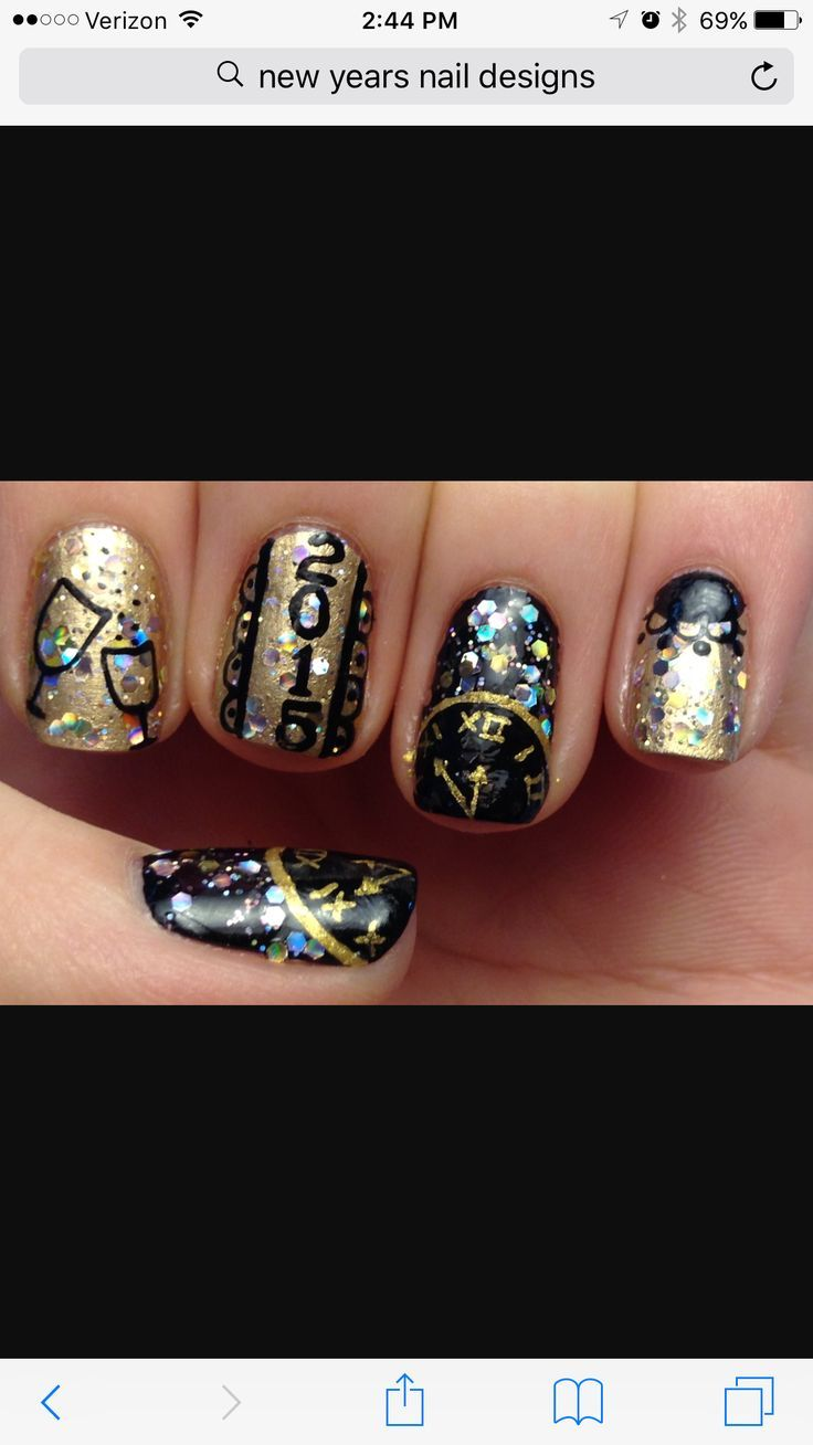 Christmas And New Years Nail Designs Design Ideas Eve …