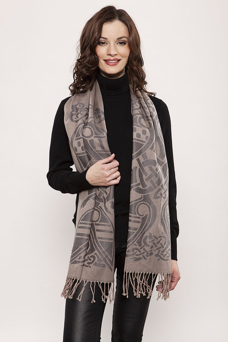 Beige Wool Scarf by Patrick Francis ♥  Available at: http://www.standun.com/patrick-francis-beige-wool-scarf.html