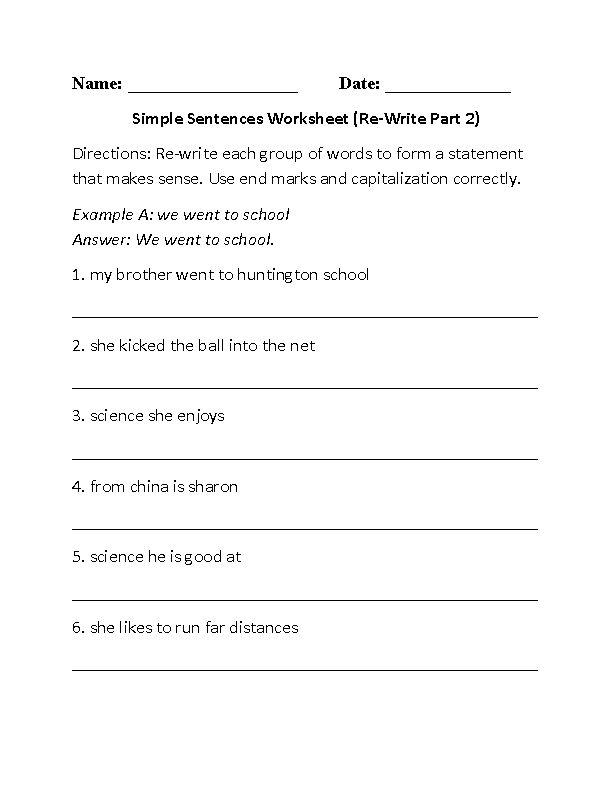 sentences worksheets board pinterest simple sentences. Black Bedroom Furniture Sets. Home Design Ideas