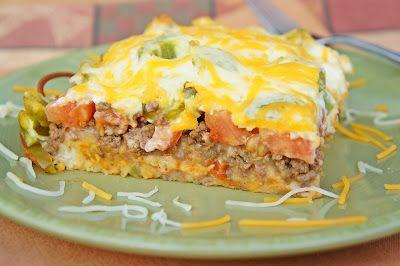 The Kitchen Life of a Navy Wife: John Wayne Casserole: Tacos Seasons, Casseroles Recipes, Sour Cream, Casserole Recipe, Ground Beef, Belle Peppers, Kitchens Life, Navy Wife, John Wayne Casseroles