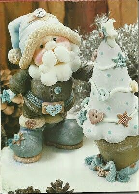 Lindo artesanato em biscout de Papai Noel!  Visite nosso portal que está conectando sonhos no Natal !!!  cartinhaaopapainoel.com.br  Noel.