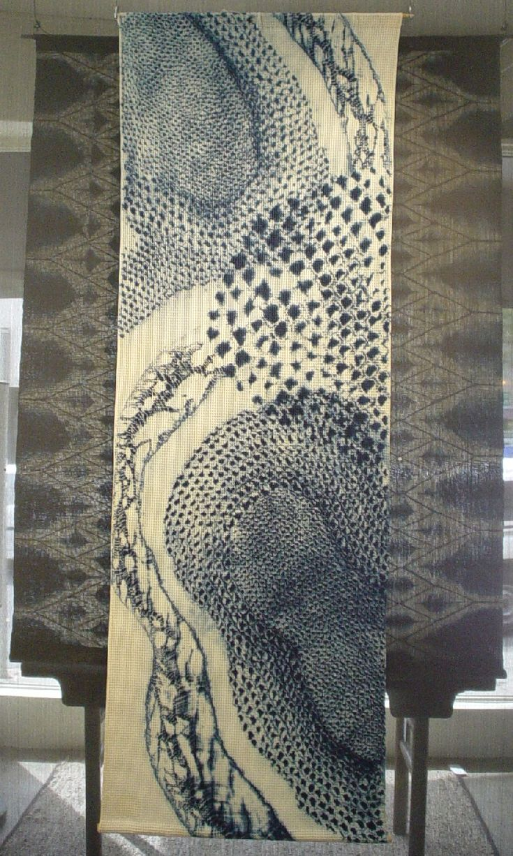 Sashiko wall hanging - stunning