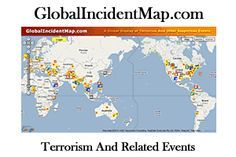 live Global Incident Map of earthquakes happening around the world