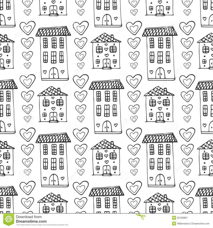 Нарисованная рукой картина милых домов безшовная Предпосылка Doodle вектора с зданием и сердцами Оборачивать, обои, ткань - Скачивайте Из Более Чем 36 Миллионов Стоковых Фото, Изображений и Иллюстраций высокого качества. изображение: 55190807