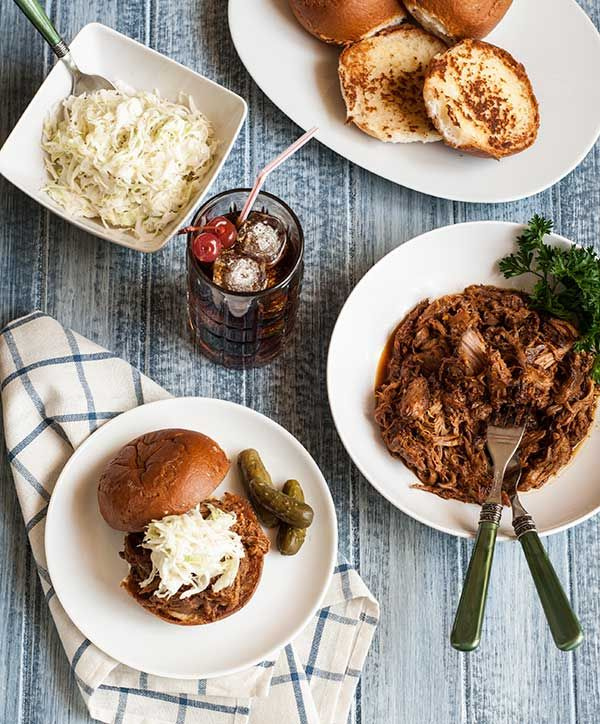 Gluten Free Cherry Cola Pulled Pork - made in the slow cooker - so easy!
