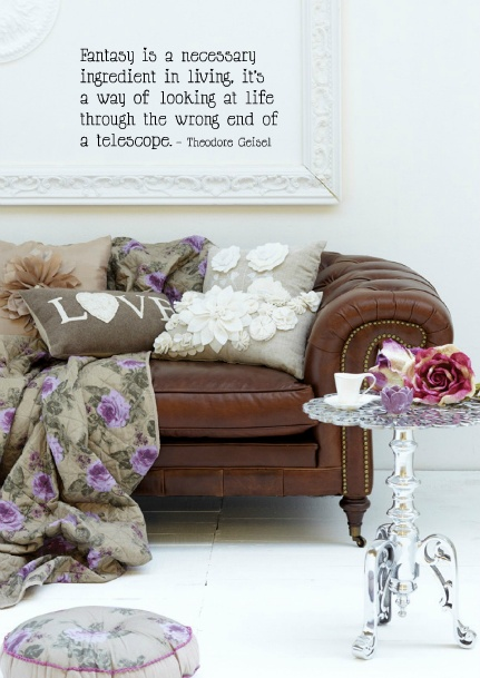 This will (fingers crossed) be an amazing look on our chocolate leather sofa xxx
