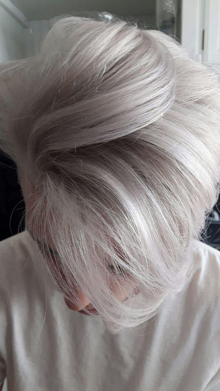 Silver blonde for men