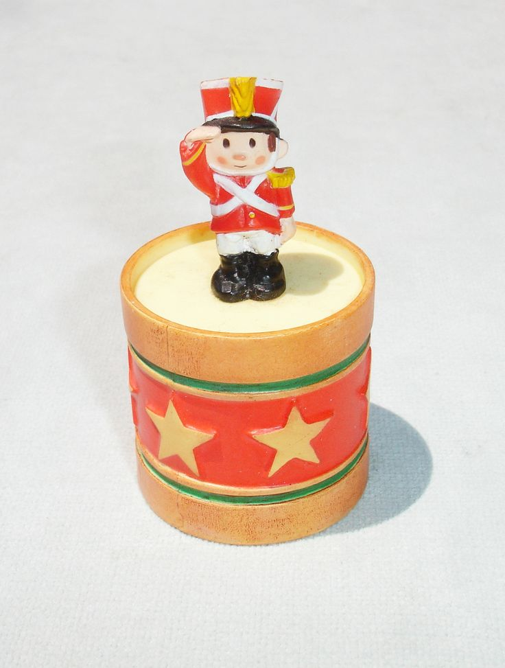 1985 Toy Soldier Box Merry Miniature - Hallmark Greeting Card Collectible