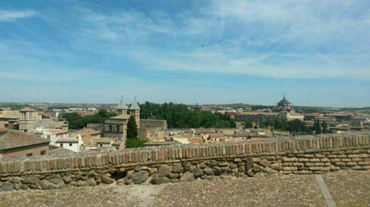 Panorama de la paisaje de Toledo