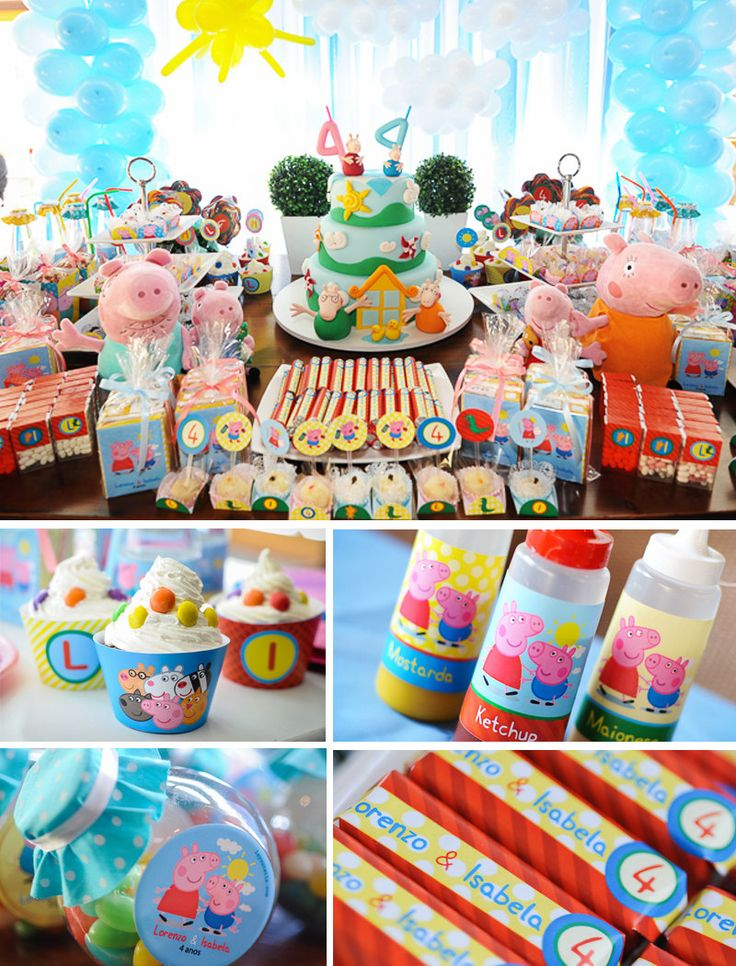 Peppa Pig Birthday Peppa Pig Party Peppa Pig Party by Layouteria