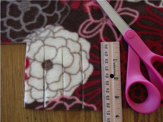 No Sew Fleece Blanket in Chic and Crafty, Crafts, Thrifty Gifts