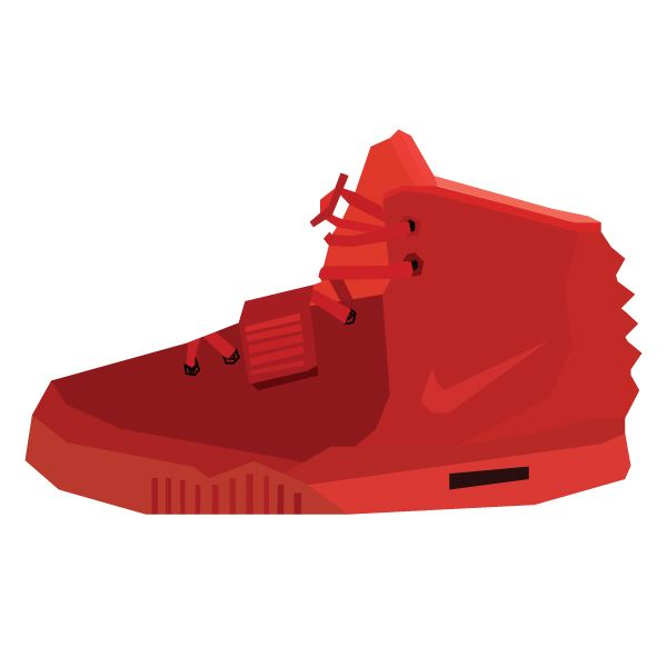 "Illustration of the Nike Air Yeezy II's. ""Red Octobers."" #sneakers"