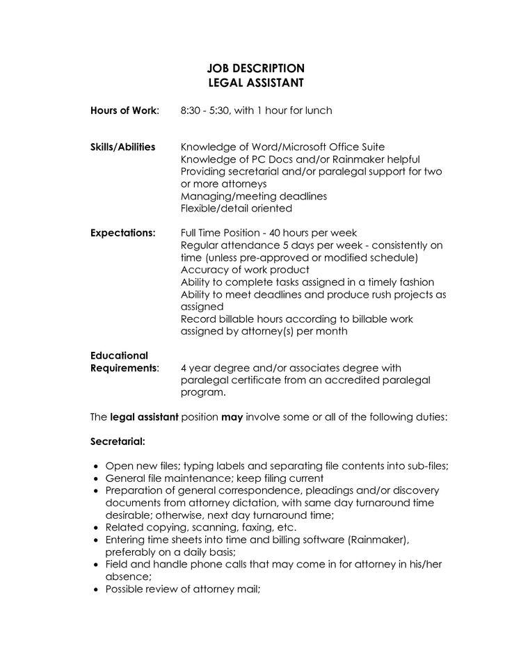 15 best Communication skills images on Pinterest Articulation - legal assistant job description