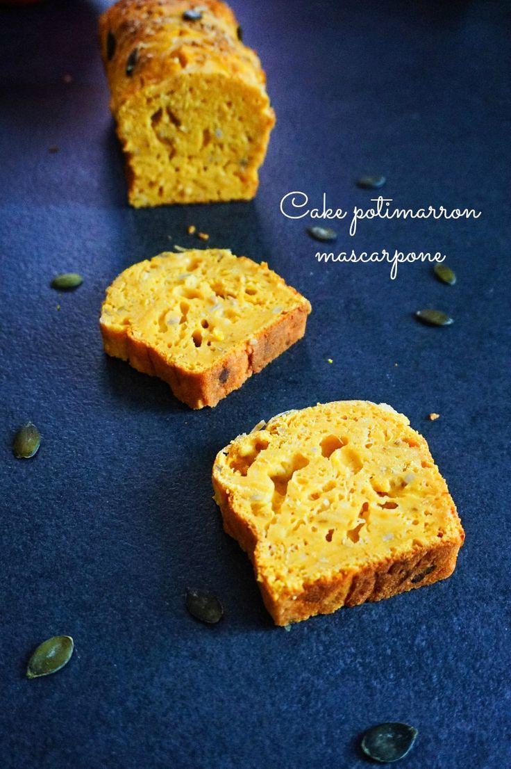 Pour un apéro ou une entrée, voici un cake potimarron mascarpone (et d'autres bricoles...) bien original . A vos fouets ! :)