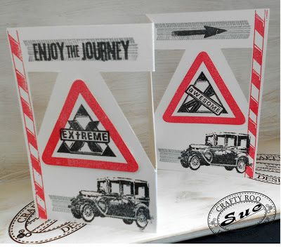 A fantastic male birthday card made by Craft Roo Design Team member Sue. Sue used our Awesome Boyz and Tyre Trackz stamp sets.