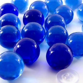 Cobalt Blue Decorative Marbles 25# Bulk - Marbles and Gems of Color