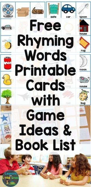 Rhyming Words Games Books Activities Free Rhyming Word Picture
