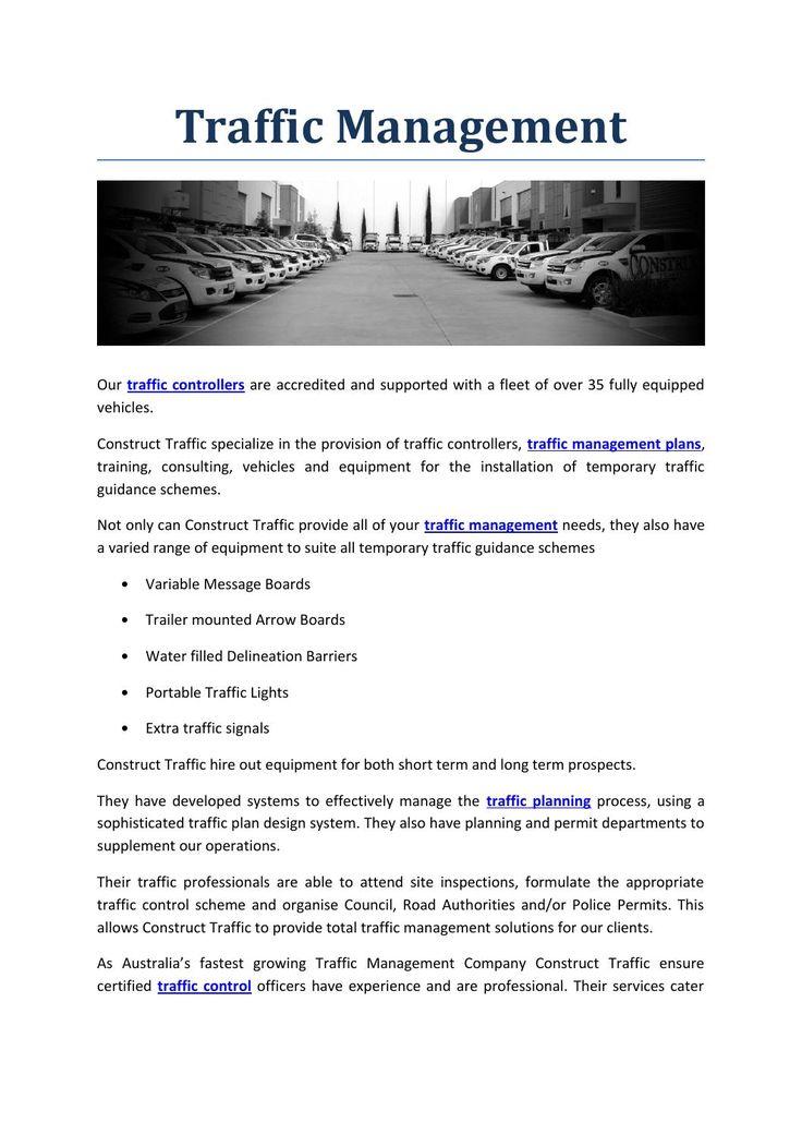 Best Traffic Plans Images On   Management Melbourne