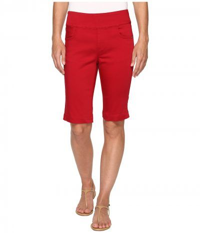 FDJ French Dressing Jeans - D-Lux Denim Pull-On Bermuda in Red (Red) Women's Shorts
