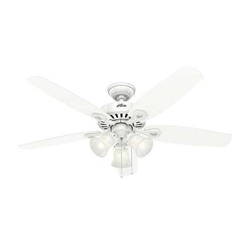 Hunter 53236 builder plus 52 inch ceiling fan snow white when you hunter 53236 builder plus 52 inch ceiling fan snow white when youve mozeypictures Images