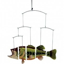 Large Mouth Bass Fish Mobile