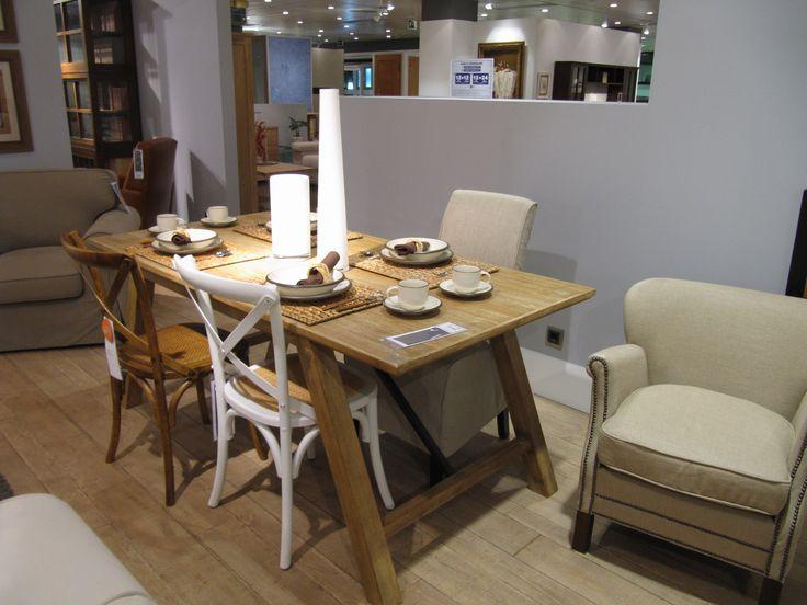 El corte ingl s mesa de madera decoraci n sal n comedor for A line salon corte madera