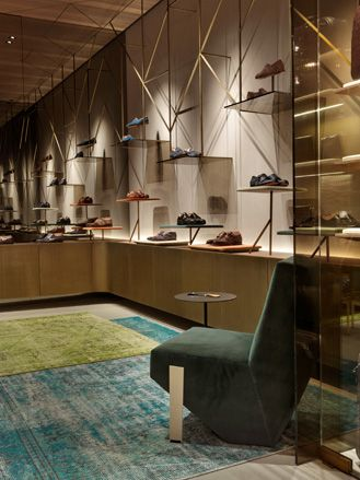 Patricia Urquiola designs Santoni's flagship boutique in Milan | Fashion + Interior Design