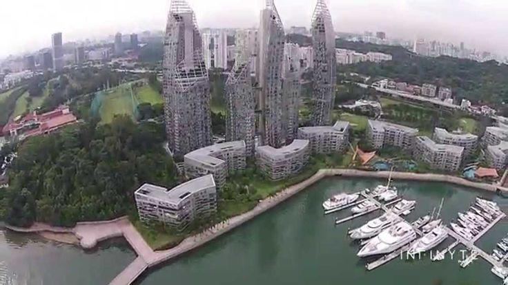 Aerial Photography of Reflections, Singapore using DJI Phantom 2 Vision+ . #Aerialvideo #Aerialphotography