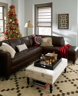 milano leather living room furniture sets u0026 pieces macyscom - Macys Living Room Furniture
