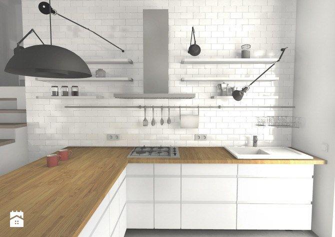 Projekt wnętrz kuchni w stylu skandynawskim - Kuchnia - Styl Skandynawski - Za murami za dachami