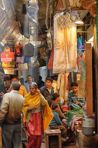 Bazar in old Delhi, Delhi, India