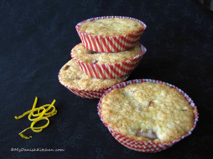 Rhubarb Muffins with Orange Zest | Breakfast is for champions | Pinte ...