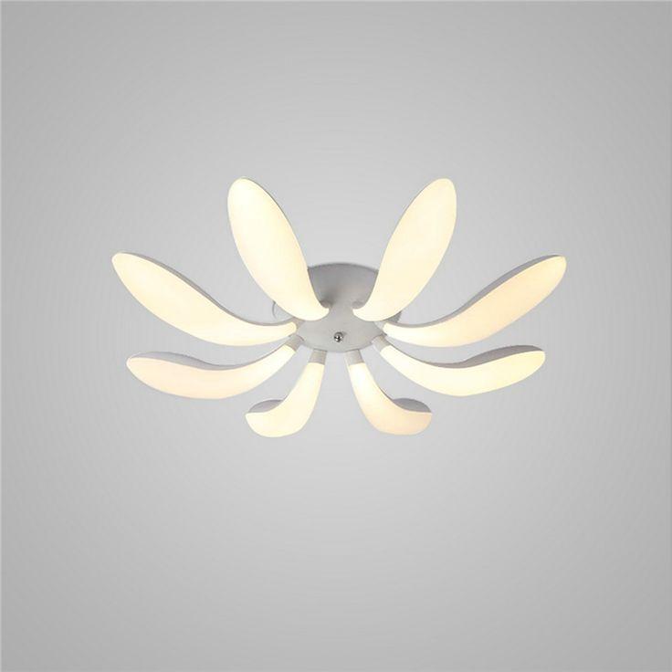 LEDシーリングライト 照明器具 リビング照明 寝室照明 天井照明 おしゃれ照明 花弁型 8枚 リモコン付 LED対応