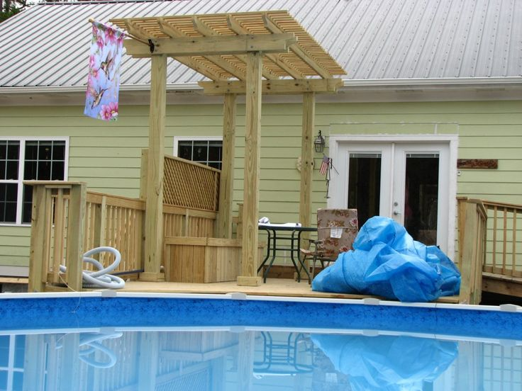 thinking about getting an above ground pool with a deck - Above Ground Pool Privacy Deck