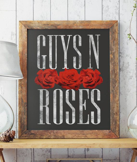 Hand drawn and digital art. GUYS N ROSES ; Perfect for your living walls. Great gift idea for your friends.  Big resolution of the picture, can be printed on larger formats.    ZuskaArt : artwork | watercolor painting | art prints | canvas art | framed art | canvas painting | watercolour | art p...