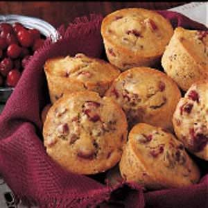 Cranberry Nut Muffins. Went to a coffee house with a friend and we thought they had cranberry muffins. They didn't so now I'm craving them. Will have to try these! :)