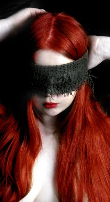 Sometimes do things blindly...Animal Blindfold, Hair Colors, Goddesses, Redheads Beautiful, Masks, Long Red Hair, Gingers Hair, Red Head, Blinds Red Hair