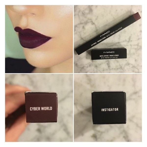 MAC Instigator Lipstick Cyber World Liner ❤ liked on Polyvore featuring beauty products, makeup, lip makeup and lipstick