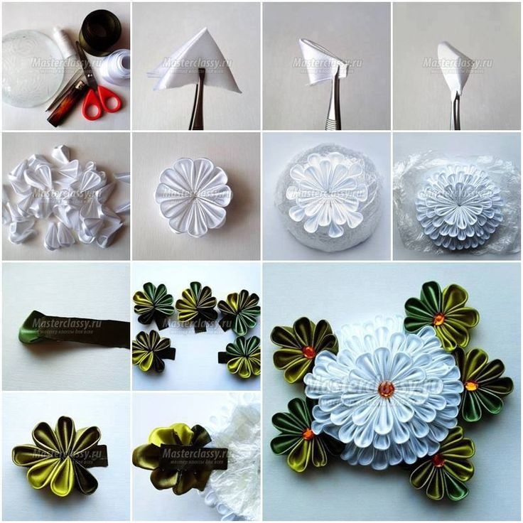 How To Make White Chrysanthemum Flower Step By DIY Tutorial Picture Instructions