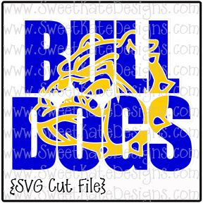 Bulldogs With Knockout Head Svg Sweetkatedesigns Com