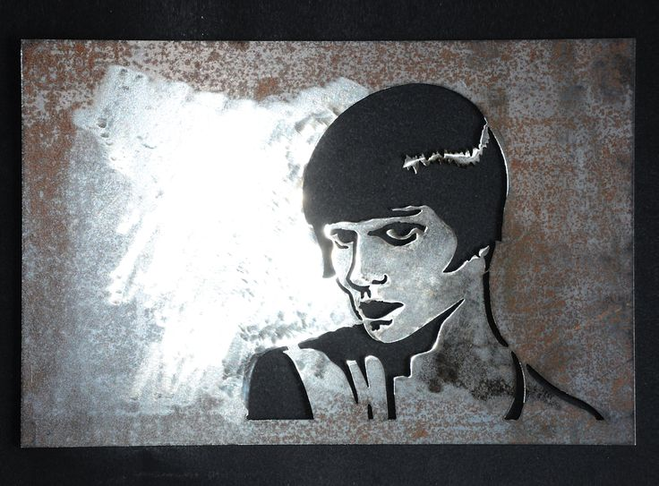 Plasma cut cnc ironpig cuadro decoración Louise Brooks retrato Arte