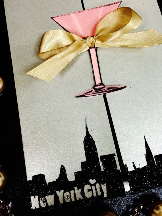 SEX and the CITY Themed Invitations for Birthday Party- Bachelorette Party- Wedding Shower- Lingerie Shower~with Matching envelop