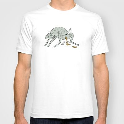 dog turds T-shirt by Jon Boam - $18.00