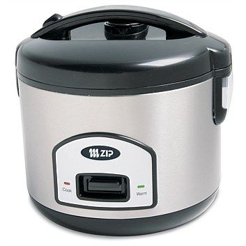 Briscoes - Zip 837 Stainless Steel Rice Cooker with Lid