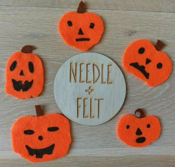 Five Scary Pumpkins Felt Song