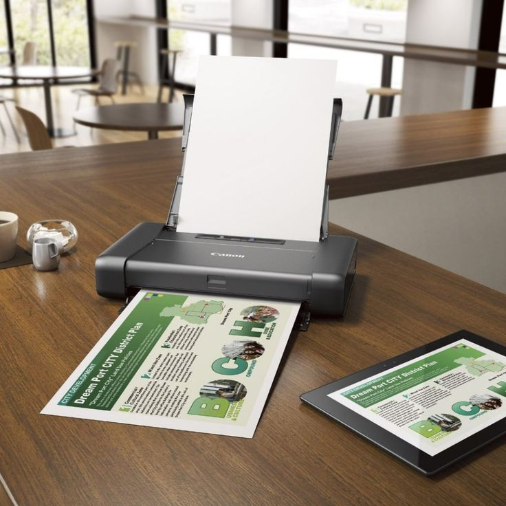 This Portable Printer is perfect for your needs. WithAirPrint - Print wirelessly and effortlessly from