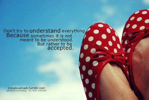 somethings can't be understood.
