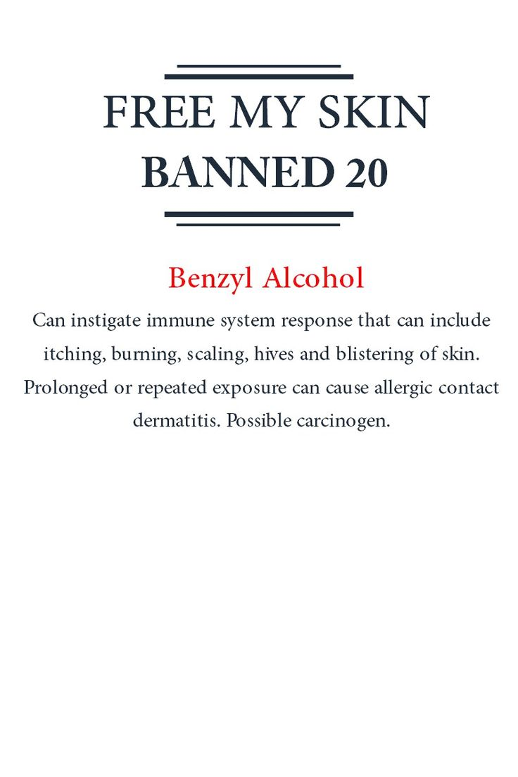 #Banned20 - Benzyl Alcohol